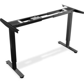 """Lorell® Electric Height Adjustable 2-Tier Sit-Stand Desk Frame - 44.25""""W x 20""""D x 46""""H - Black"""