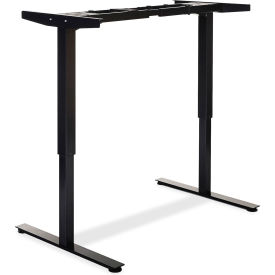 "Lorell® Electric Height Adjustable 2-Tier Sit-Stand Desk Frame -44.25""W x 27.5""D x 46""H - Black"