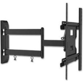 "Lorell® Double Articulated Mount For 26"" - 46"" Flat Panel Screens, 80 lb. Capacity, Black"