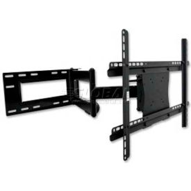 "Lorell® Double Articulated Mount For 37"" - 61"" Flat Panel Screens, 150 lb. Capacity, Black"