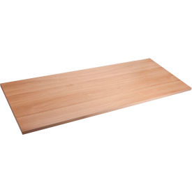"Lorell® Quadro Sit-Stand Desk Table Top - Straight Edge - 60""W x 24""D - Latte"