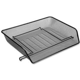 Lorell® Side-Loading Mesh Letter Trays, Black, 2/Pack