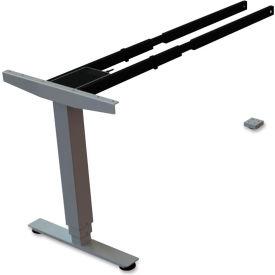 "Lorell® 3rd Leg Add-on for Quadro Three-Tier Sit-Stand Frames - 44""W x 24""D x 26.5""H - Silver"