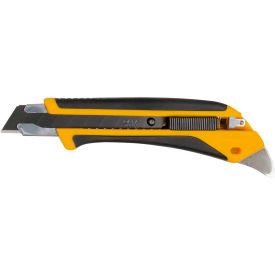 OLFA® 1072198 Fiberglass Rubber Grip Utility Knife - Black/Yellow