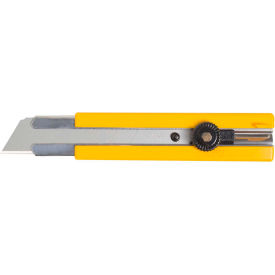 OLFA 5006 Rubber Inset Grip Ratchet-Lock Utility Knife Yellow by