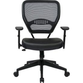Office Star Dark Air Grid Mesh Back Managers Chair - Black