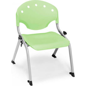 "OFM Rico 12""H Armless Stack Chair, Lime Green - Pkg Qty 4"