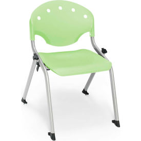 """OFM Rico 14""""H Armless Stack Chair, Lime Green - Pkg Qty 4"""