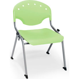 "OFM Rico 16""H Armless Stack Chair, Lime Green - Pkg Qty 4"
