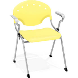 Stack Chair With Arms - Lemon Yellow - Pkg Qty 4