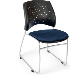 Ofm Stars Fabric Stack Chair, Navy Pkg Count 4 by