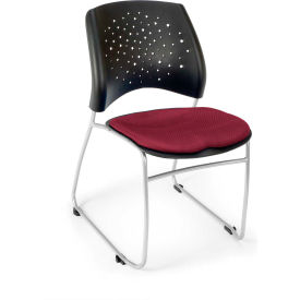 Ofm Stars Fabric Stack Chair, Burgundy Pkg Count 4 by