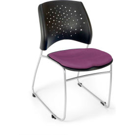 Ofm Stars Fabric Stack Chair, Plum Pkg Count 4 by