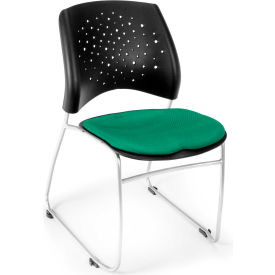 Ofm Stars Fabric Stack Chair, Forest Green Pkg Count 4 by