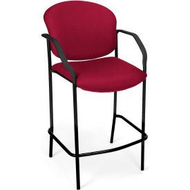Café Height Chair With Arms - Wine - Pkg Qty 2
