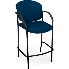 Café Height Chair With Arms - Navy - Pkg Qty 2