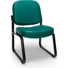 Vinyl Armless Guest/Reception Chair - Teal