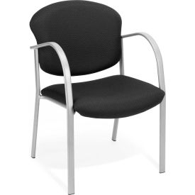 Contract Fabric Upholstered Arm Chair - Ebony