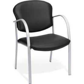 Contract Vinyl Upholstered Arm Chair - Black
