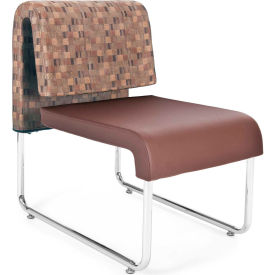 OFM Uno Series Lounge Chair, Fabric and Polyurethane, Copper with Brown - Pkg Qty 2