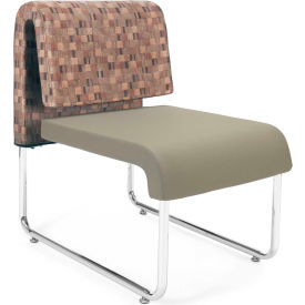OFM Uno Series Lounge Chair, Fabric and Polyurethane, Copper with Taupe - Pkg Qty 2