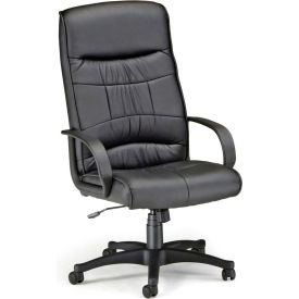 OFM Encore Series Leatherette High-Back Chair, Black