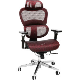 OFM Core Collection Ergo Office Chair, Mesh Back and Seat with Head Rest, in Burgundy (540-BURG)