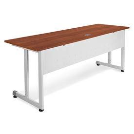 "Modular Desk/Worktable 24""Dx72""W - Cherry & Silver"