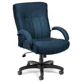 Big & Tall Executive Chair Mid Back - Blue