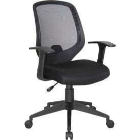 Essentials by OFM E1000 Mesh Swivel Task Chair with Arms, Black