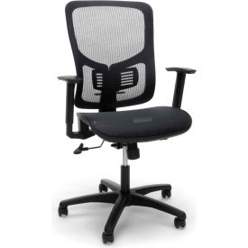 OFM Essentials Collection Mesh Seat Ergonomic Office Chair w/ Lumbar Support, Black (ESS-3055-BLK)
