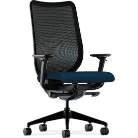 HON® Mesh Task Chair - Fabric - Navy Seat, Black Back - Nucleus Series