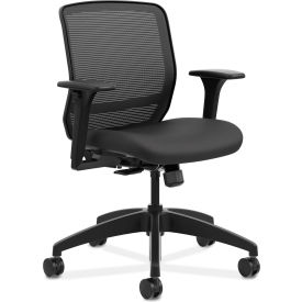 HON® Mesh Mid-Back Task Chair - Black - Quotient Series