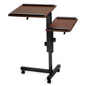 Multi-Purpose Split Level Stand - Mahogany & Black