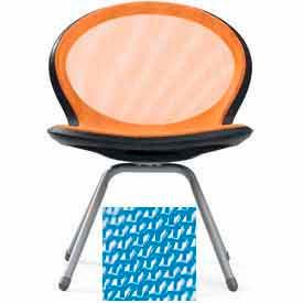 Net 4-Legged Chair - Sky Blue - Pkg Qty 2