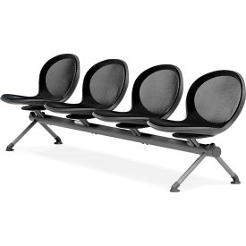 OFM NET Series 4-Unit Beam Seating with 4 Seats, Black