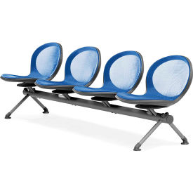 OFM NET Series 4-Unit Beam Seating with 4 Seats, Marine