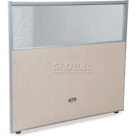 """OFM RiZe Series 47"""" x 48"""" Vinyl Floor Panel with Translucent Polycarbonate Top, Beige w/ Gray Frame"""