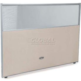 """OFM RiZe Series 47"""" x 60"""" Vinyl Floor Panel with Translucent Polycarbonate Top, Beige w/ Gray Frame"""