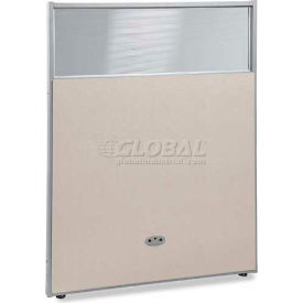 """OFM RiZe Series 63"""" x 48"""" Vinyl Floor Panel with Translucent Polycarbonate Top, Beige w/ Gray Frame"""