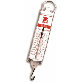 Ohaus 8008-MN Educational Pull Type Spring Scale-Grams/Newtons 11.25lb x 3.6 oz