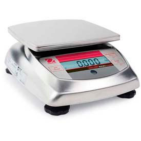 "Ohaus V31XW6 AM Compact Bench/Food Washdown Digital Scale 13.23 lb x 0.005 lb, 5-13/16"" x 6-3/16"""