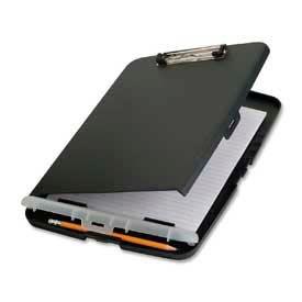 "Officemate® Slim Clipboard Storage Box, 14"" x 1-1/2"" x 10-1/2"", Charcoal"