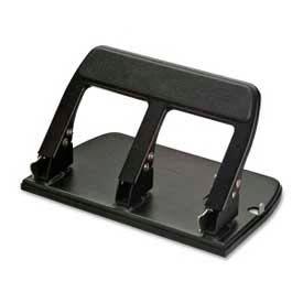 Officemate® Heavy-Duty Three-Hole Punch, 40 Sheet Capacity, Black
