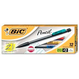 Bic Mechanical Pencil, Non-Refillable, 0.7mm, Clear Barrel, Dozen by