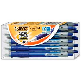 Bic® Velocity Ballpoint Pen, Medium, Blue Ink, Dozen