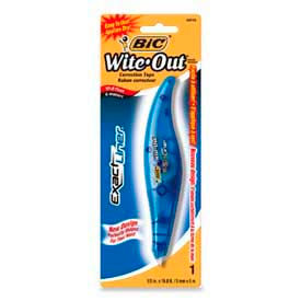 Bic® Wite-Out® Exact Liner Correction Tape Pen, 1/5 in x 238 in, White, 1 Pack