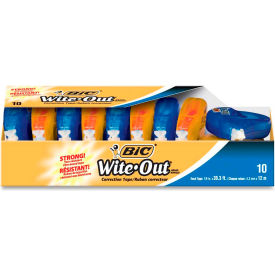 Bic® Wite-Out® EZ Correct Correction Tape, 1/6 in x 400 in, White, 10/Box
