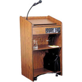 Floor Sound Lectern - Medium Oak