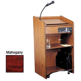 Floor Sound Podium / Lectern - Mahogany